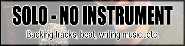 solo artist no instrument