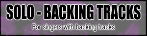 for singers with backing tracks